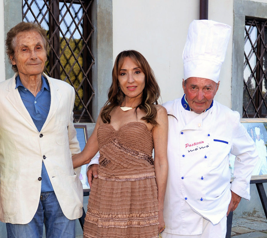 Angela De Nozza: Angela De Nozza, with her husband Roberto De Nozza and Pasticcio